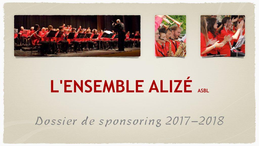 Alizé Sponsoring _ 2017-2018 - couverture