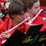 Annick, Céline et Lotte à la flûte